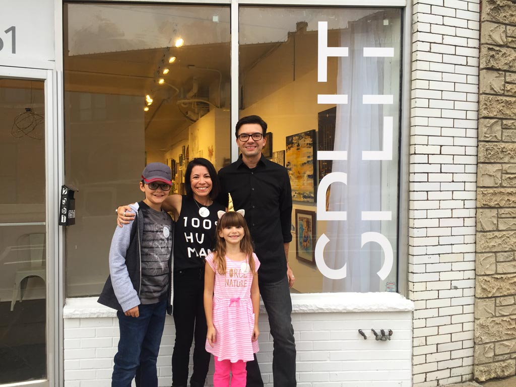 Jill and Brian and family at Split Gallery in October 2018