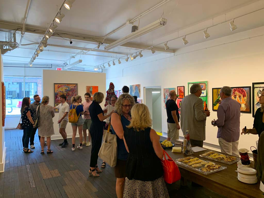 Not Succinct opening reception at Split Gallery
